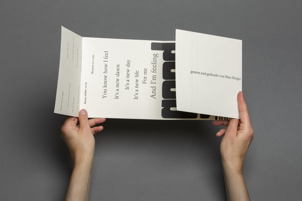 Marc Berger – Edition Schwarzdruck